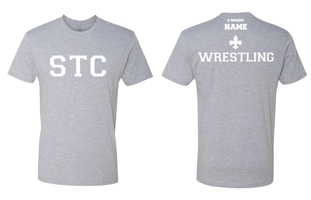 STC Wrestling Cotton Crew Tee - Grey