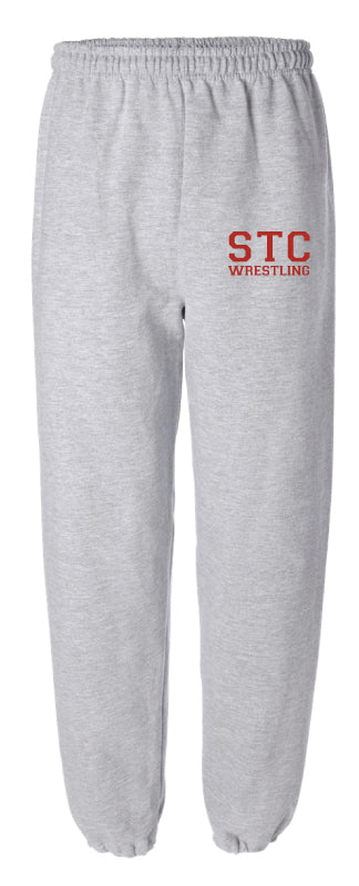 STC Wrestling Cotton Sweatpants - Grey - 5KounT