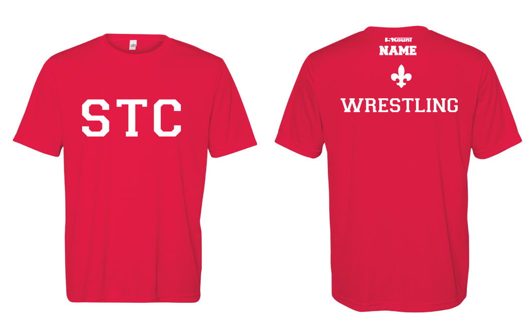 STC Wrestling DryFit Performance Tee - Red - 5KounT2018