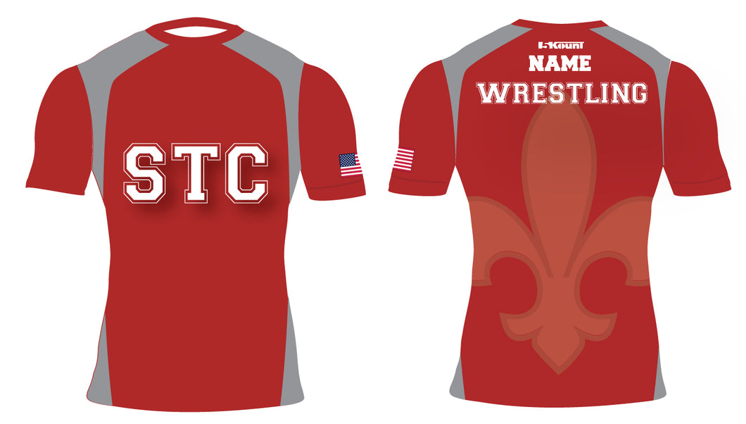 STC Wrestling Sublimated Compression Shirt - 5KounT2018