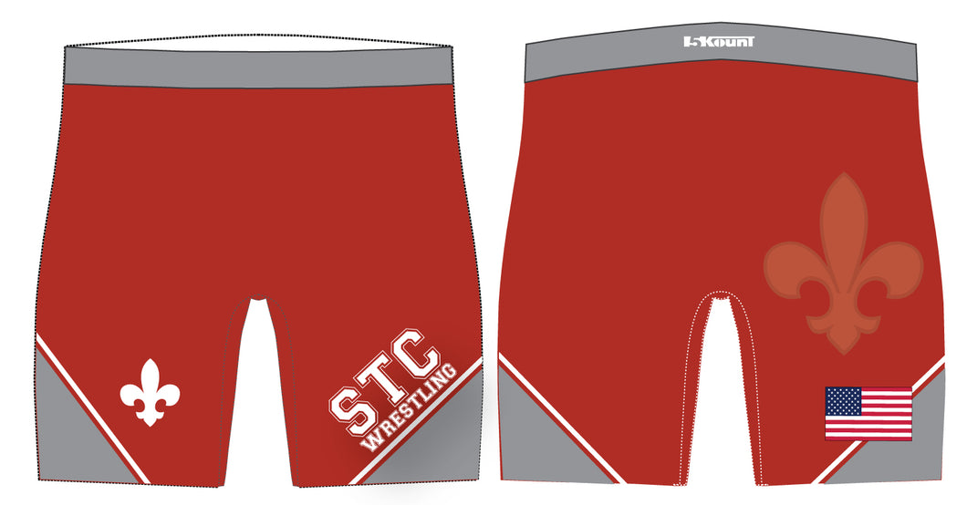 STC Wrestling Sublimated Compression Shorts