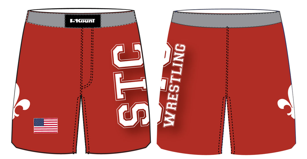 STC Wrestling Sublimated Fight Shorts