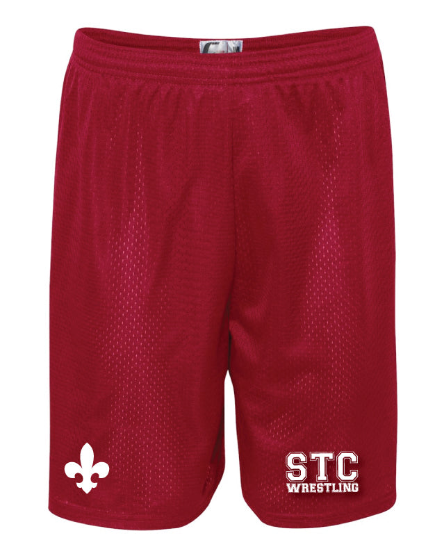 STC Wrestling Tech Shorts - Red - 5KounT2018