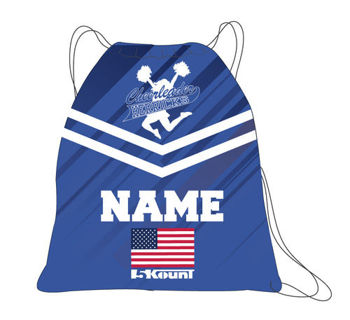 Herricks Cheer Sublimated Drawstring Bag