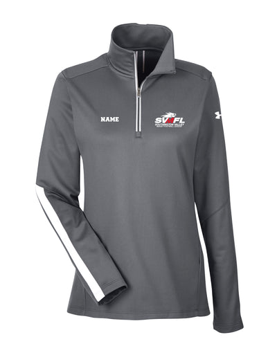 SVMFL Under Armour Ladies' Qualifier 1/4 Zip - Graphite/Black - 5KounT2018