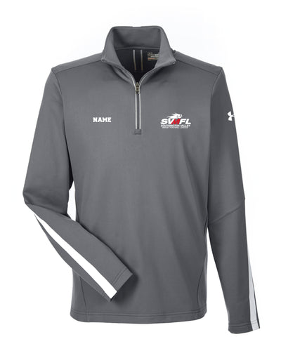 SVMFL Under Armour Men's Qualifier 1/4 Zip - Graphite/Black - 5KounT2018