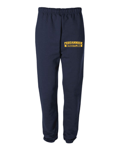 Pequannock Wrestling Cotton Sweatpants - Navy - 5KounT2018