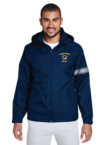 Saddle Brook Soccer All Season Hooded Men's Jacket - Navy (Team and Coaches ONLY)