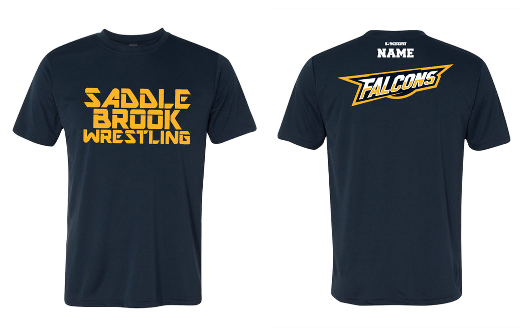 Saddle brook youth wrestling DryFit Performance Tee - Navy