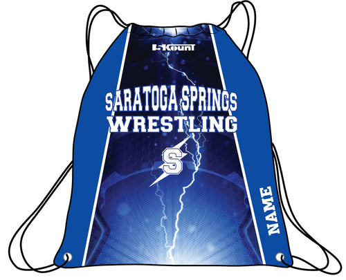 Saratoga Springs Sublimated Drawstring Bag