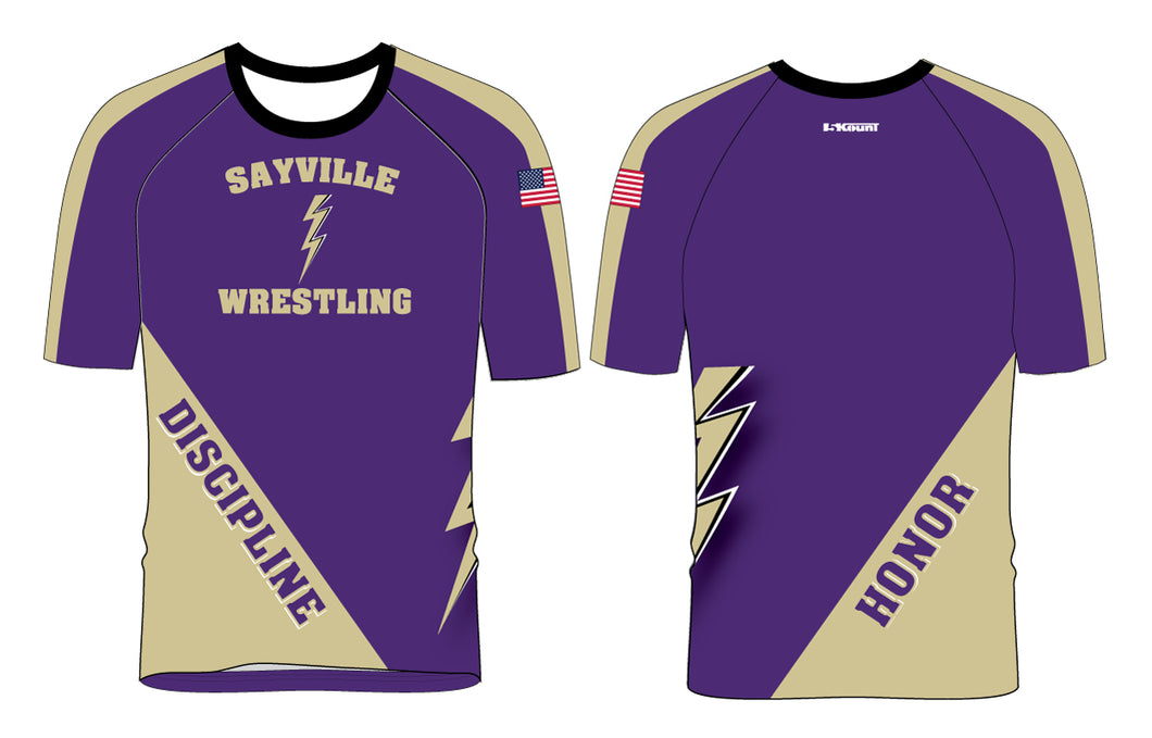 Sayville HS Wrestling Sublimated Fight Shirt 2 - 5KounT2018