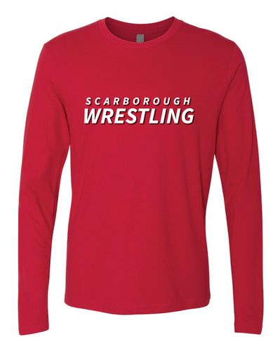 Scarborough Wrestling Long Sleeve Cotton Crew - Red