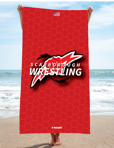 Scarborough Wrestling Sublimated Beach Towel