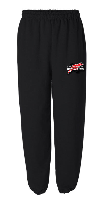 Scarborough Wrestling Cotton Sweatpants - Black