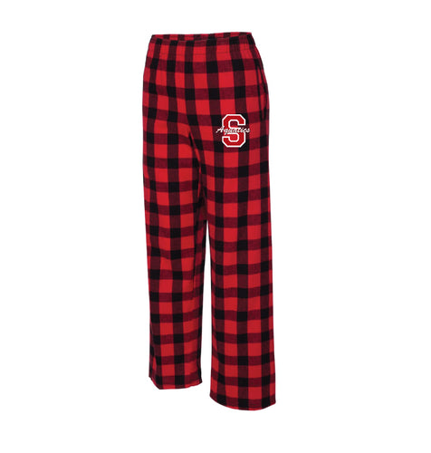 Scarlet Aquatics Flannel Pajama Pants Red & Black
