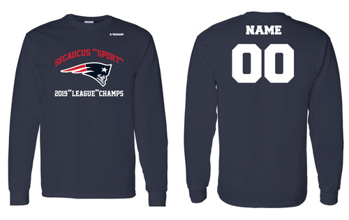 Secaucus Championship and Awards Cotton Long Sleeve - Navy - 5KounT2018