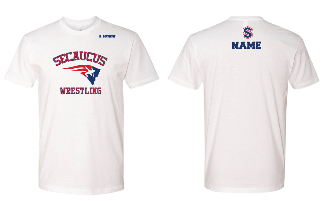 Secaucus Wrestling Cotton Crew Tee - White