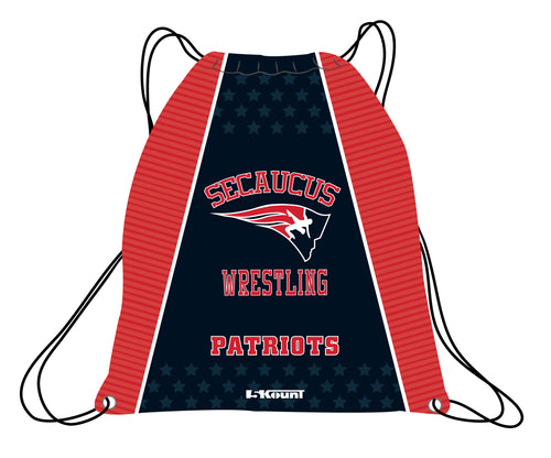 Secaucus Wrestling Sublimated Drawstring Bag