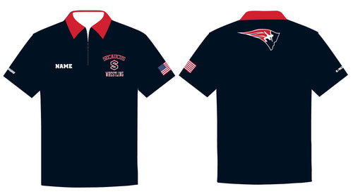 Secaucus Wrestling Sublimated Polo - 5KounT2018
