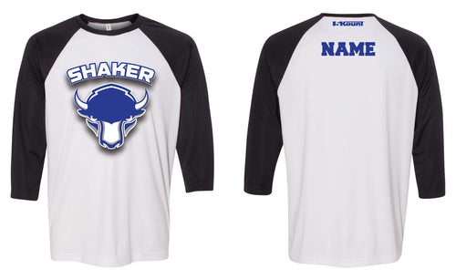 Shaker Wrestling Baseball Shirt - Black/White