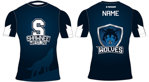 Shawnee HS Wrestling Sublimated Compression Shirt - 5KounT