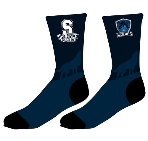 Shawnee HS Wrestling Sublimated Socks - 5KounT