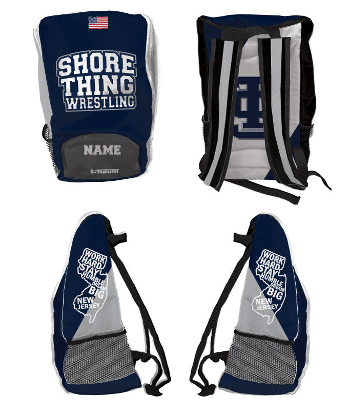 Shore Thing Wrestling Sublimated Backpack