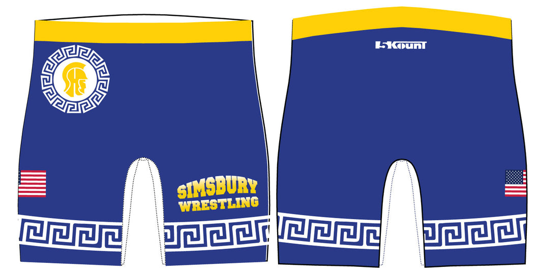 Simsbury Wrestling Sublimated Compression Shorts
