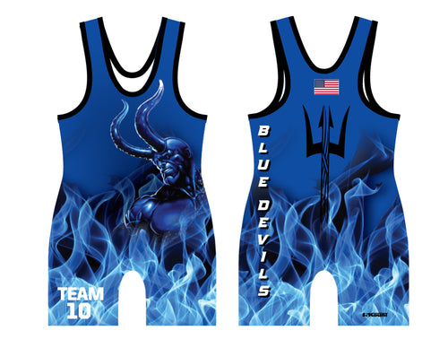 Blue Devils Wrestling Sublimated Singlet - Team 10