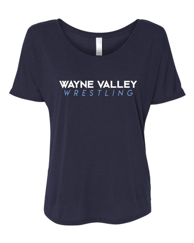 Wayne Valley Wrestling Women's Slouchy Tee - Navy
