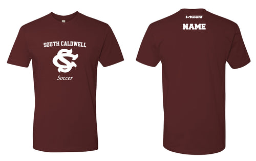 South Caldwell Soccer Cotton Crew Tee - Maroon - 5KounT2018