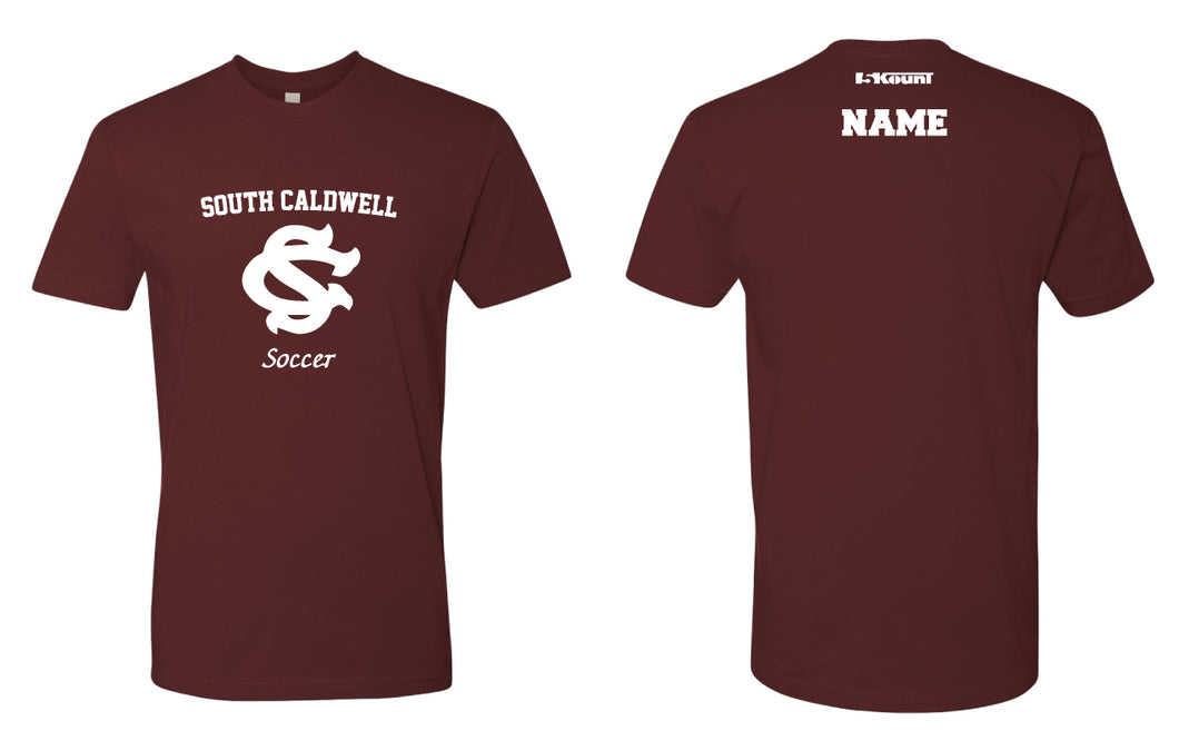 South Caldwell Soccer Cotton Crew Tee - Maroon