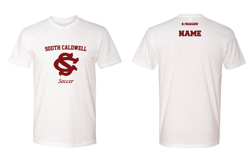 South Caldwell Soccer Cotton Crew Tee - White - 5KounT2018
