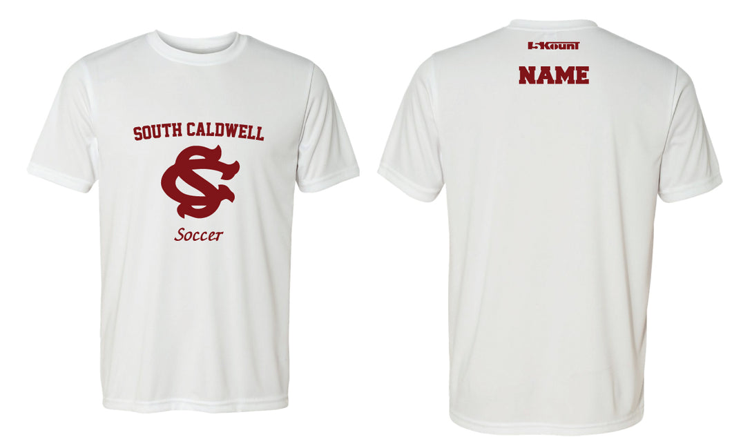 South Caldwell Soccer DryFit Performance Tee - White - 5KounT2018