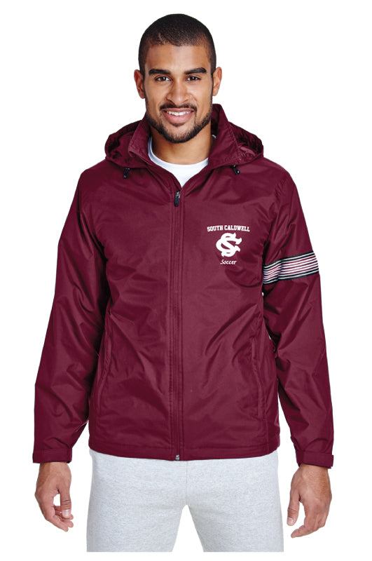 South Caldwell Soccer All Season Hooded Jacket - Maroon