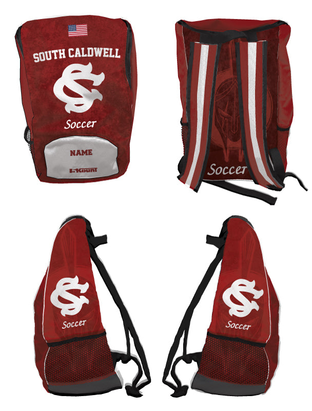 South Caldwell Soccer Sublimated Backpack