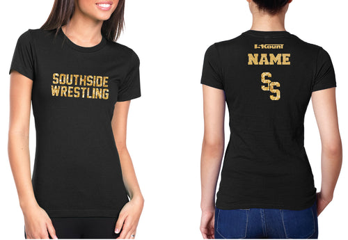 Southside Wrestling Glitter Cotton Crew Tee