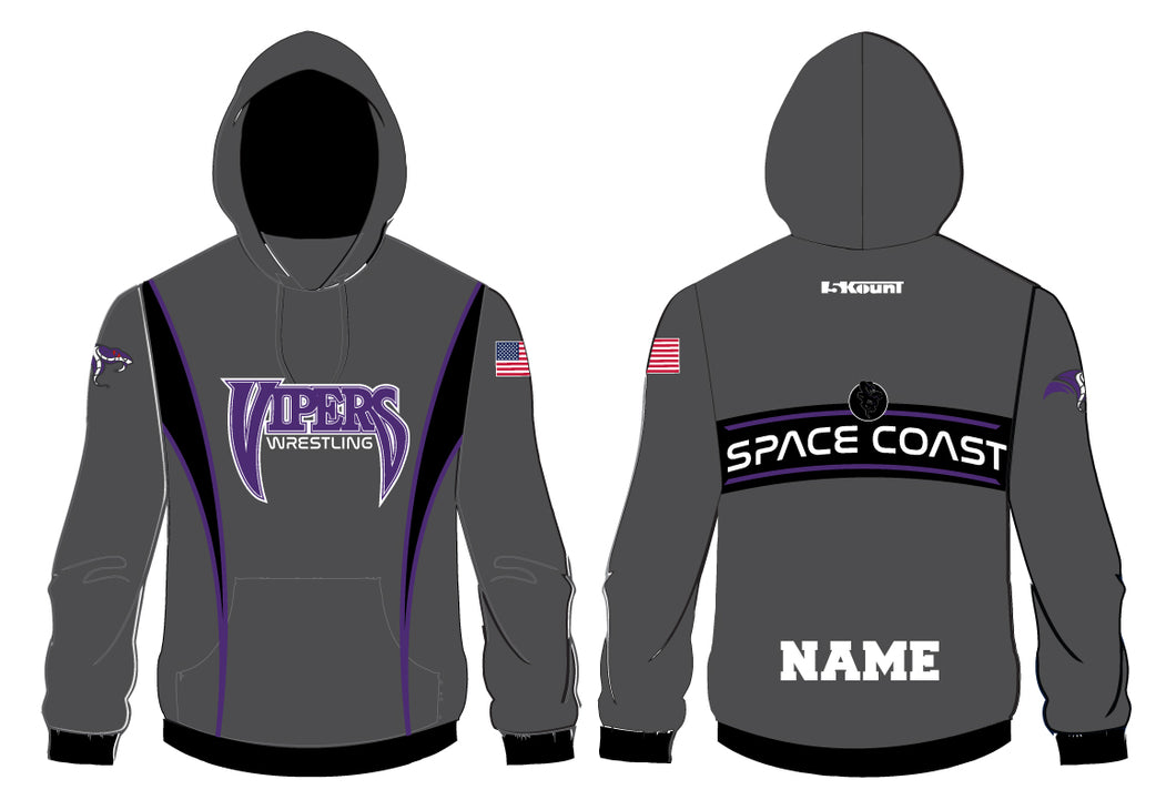 Space Coast HS Wrestling Sublimated Hoodie