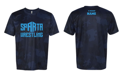 Sparta Youth Wrestling Laser Camo Tech Tee - 5KounT
