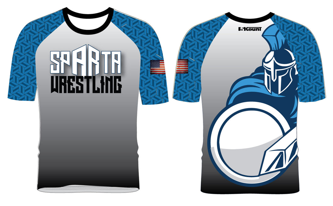 Sparta Youth  Wrestling Sublimated Fight Shirt - 5KounT2018