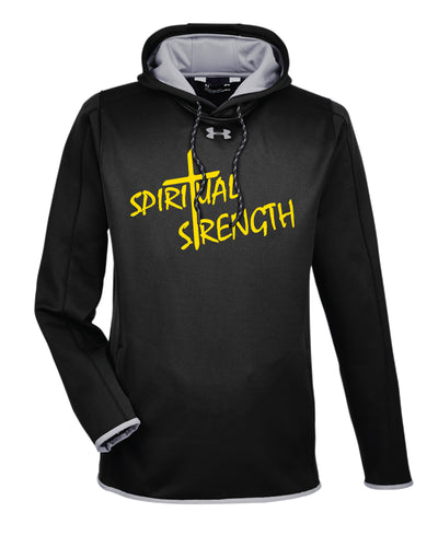 Spiritual Mindset Under Armour Ladies' Double Threat Armour Fleece Hoodie - Black