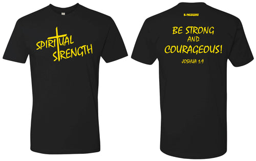 Spiritual Strength Cotton Crew Tee -Black