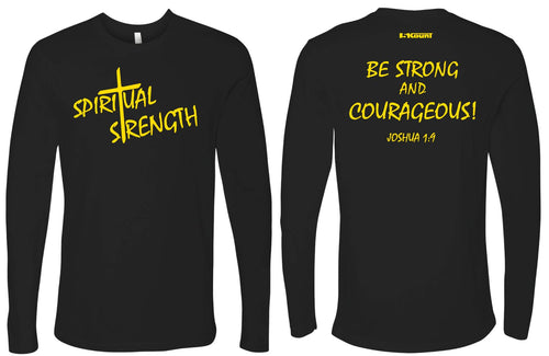 Spiritual Strength Cotton Long Sleeve - Black