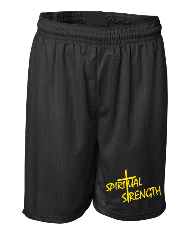 Spiritual Strength Russell Athletic Tech Shorts - Black
