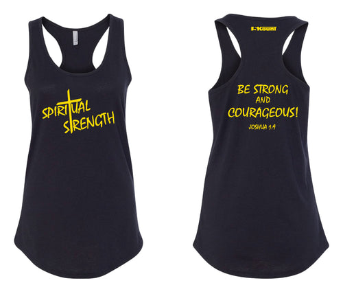 Spiritual Strength Ladies Tank Top - Black