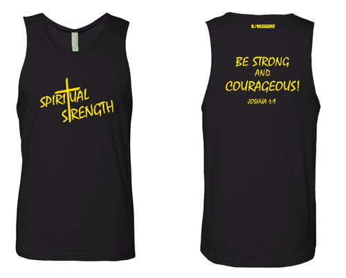 Spiritual Strength Mens Tank - Black