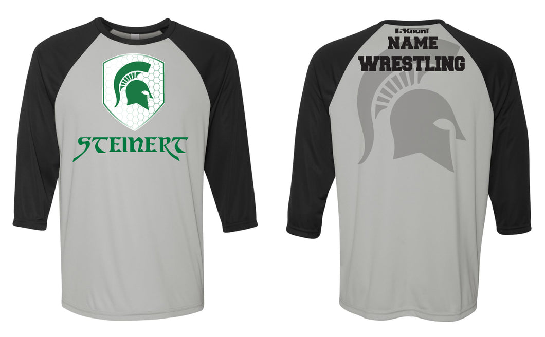 Steinert Wrestling Baseball Shirt - Black/Grey - 5KounT2018