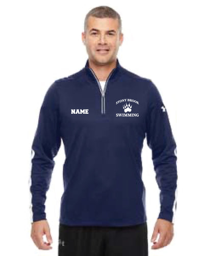 Stony Brook Swimming Under Armour Men's Qualifier 1/4 Zip - Navy - 5KounT2018