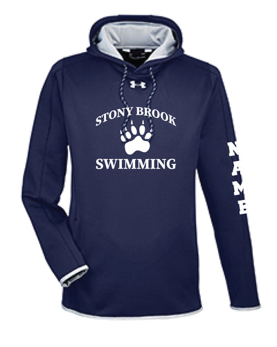 Stony Brook Swimming Under Armour Men's Hoodie - Navy - 5KounT2018