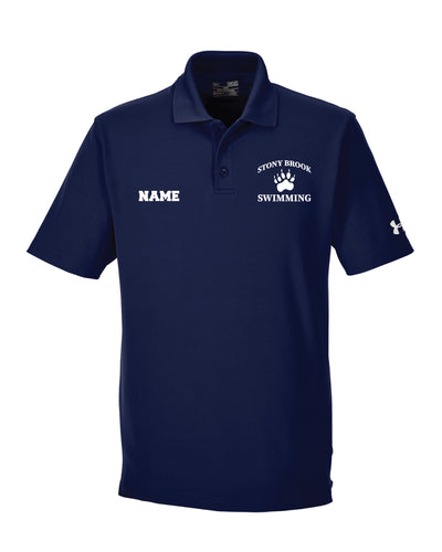Stony Brook Swimming Under Armour Polo Shirt - Navy - 5KounT2018